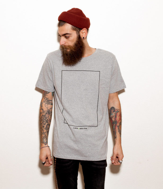 Camiseta Like a Melon: Clean Mess Grey